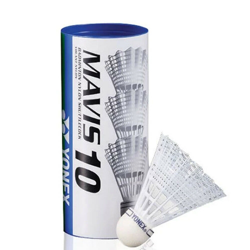 Yonex Mavis 10 (3) Nylon Badminton Shuttlecocks White - Blue Cap