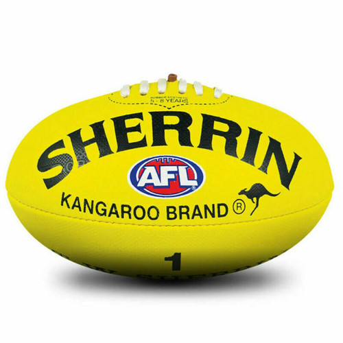Sherrin KB Synthetic AFL Football In Yellow Size 1