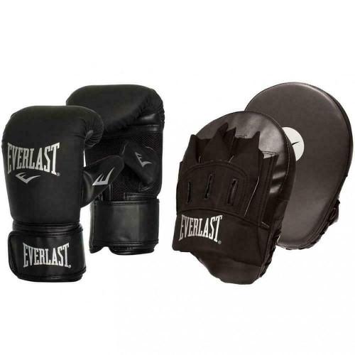 Everlast Tempo Glove & Mitt Combo Boxing Large/XLarge Black