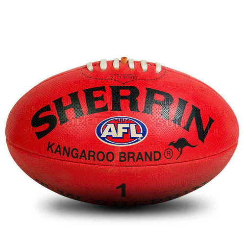 Sherrin KB Synthetic AFL Football In Red Size 1