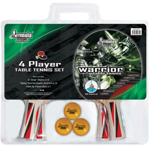 Formula Sports Warrior 4 Player Table Tennis Set