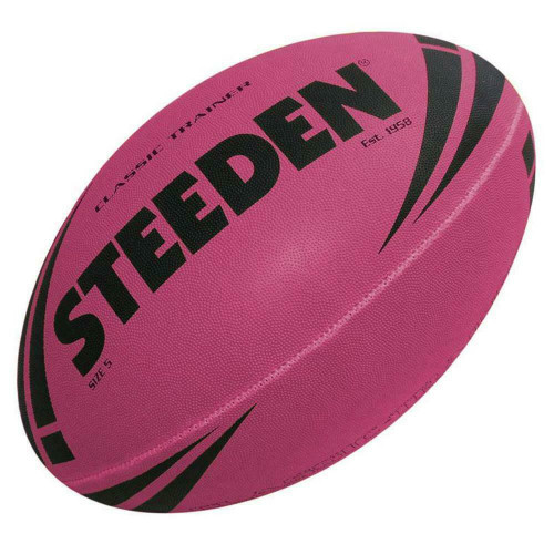 Steeden Classic Trainer NRl, Rugby League Football - Size 5 in Pink