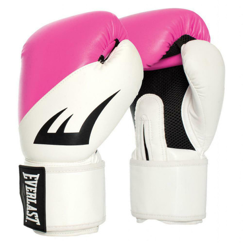 Everlast 10oz. EX Training Boxing Gloves in White with Pink