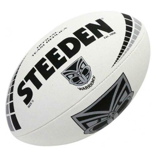 Steeden New Zealand Warriors NRL White Football - Size 5