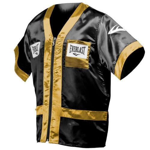 Everlast Boxing Corner Jacket Black/Gold - Size Large