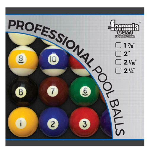 "Formula Sports 2"" High Gloss Finish Pool Balls"
