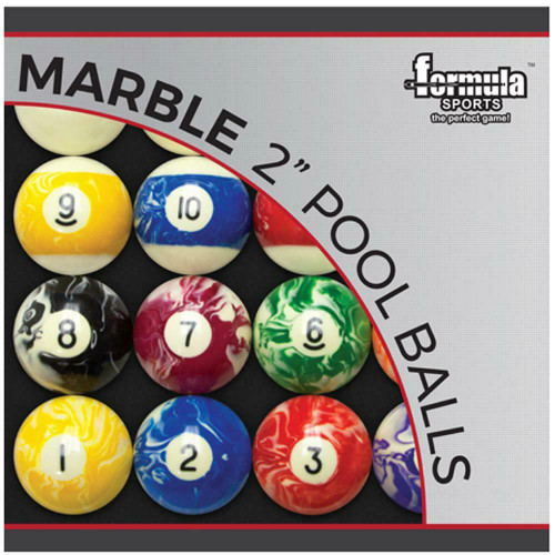 "Formula Sports 2"" Marble Gloss Finish Pool Balls"