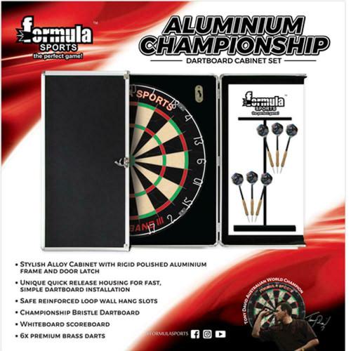 Formula Sports Championship Dartboard, Cabinet & Darts Set