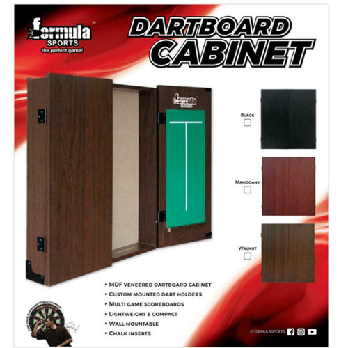 Formula Sports MDF Walnut Dartboard Cabinet