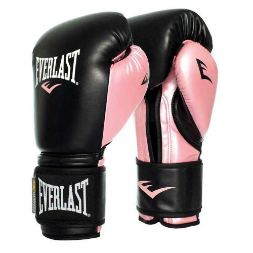 Everlast 12oz. Ladies Powerlock Training Boxing Gloves in Black/Pink