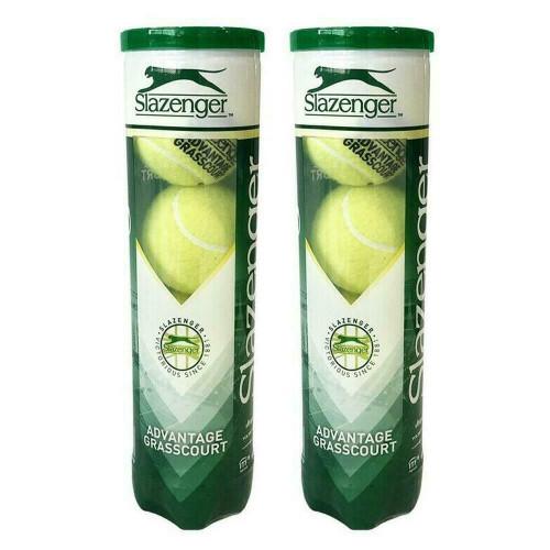 Slazenger Advantage Grass Court Tennis Balls - 2  x 4-Ball Can Bundle