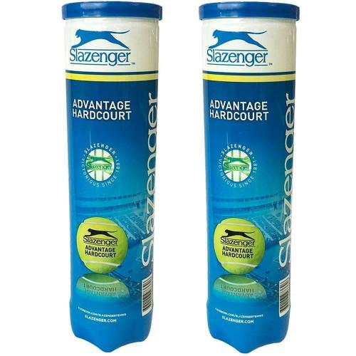 Slazenger Advantage Hardcourt Tennis Balls - 2  x 4-Ball Can Bundle