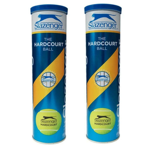 Slazenger The Hardcourt Tennis Balls - 2  x 4-Ball Can Bundle