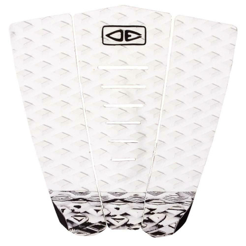 Ocean And Earth Simple Jack 3 Piece Traction Surfboard Tail Pad White/Black
