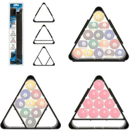 "Formula Sports 2"" Pool/Snooker Balls Multi Game Triangle"