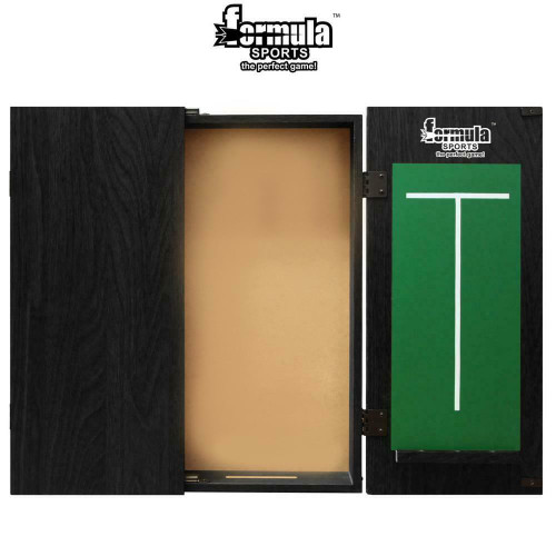 Formula Sports MDF Black Dartboard Cabinet