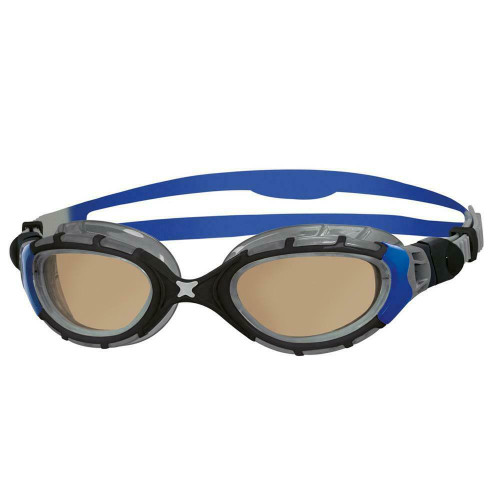 Zoggs Adult Predator Flex In Regular Fit For Swimming Goggles In Blue Black