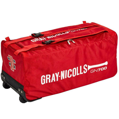 Gray Nicolls GN 700 Cricket Travel Wheel Bag In Red