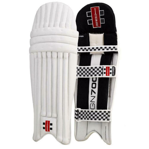 Gray Nicolls GN700 Cricket Leg Guards For Adult 15 Years+ - In White