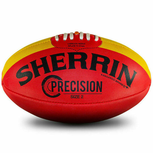 Sherrin Precision Size 2 AFL Football Red With Yellow