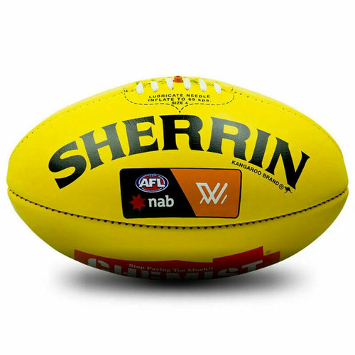 Sherrin Official AFLW Game Ball Yellow Premiership Season Ball