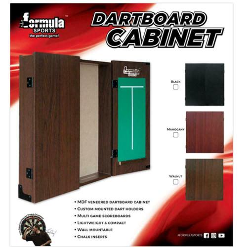 Formula Sports MDF Mahogany Dartboard Cabinet