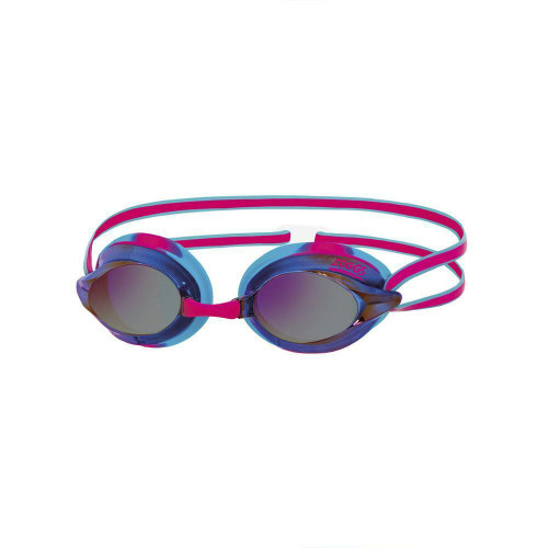 Zoggs Adult Racespex Mirror Goggles in Pink/Blue with Mirror Tinted Lenses