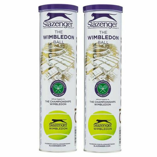 Slazenger Wimbledon All Surface Tennis Balls - 2 x 3-Ball Can Bundle