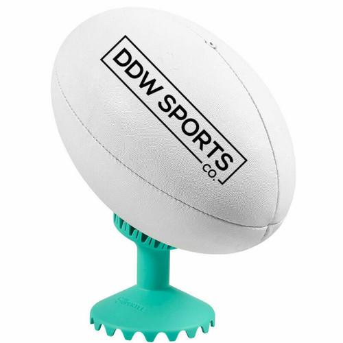 Boffo Rugby - Throne II - Dan Carter Football Kicking Tee In Aqua