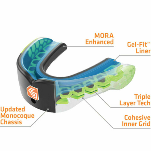 Shock Doctor Gel Max Power Adults Mouthguard Fangs Adult