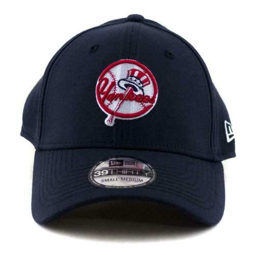 New York Yankees New Era MLB Team 39Thirty Hat In Navy - Flex Fit Baseball Cap