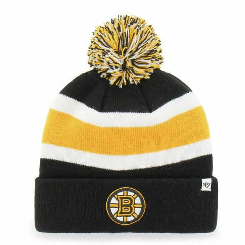 Boston Bruins Breakaway Pom Cuff Knit Beanie - '47 Brand