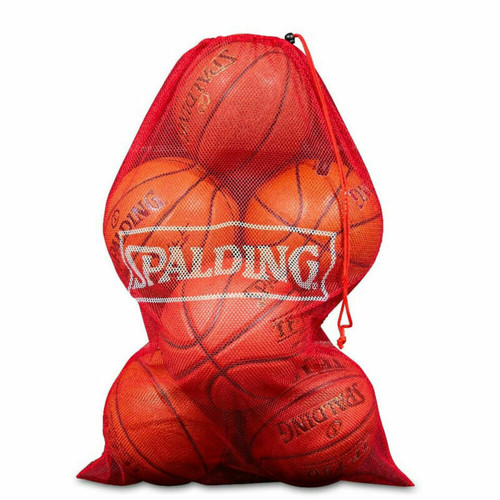 6-7 Basketball Mesh Carry Bag In Red From Spalding