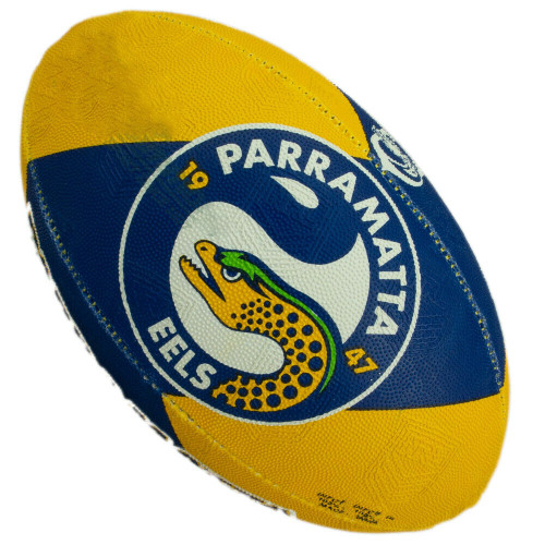 Steeden NRL Eels Supporter Ball - 11 Inch Half-Size - Rugby League Football