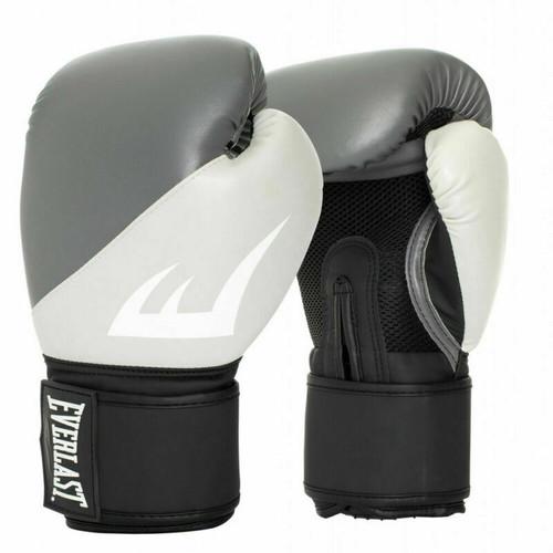 Everlast 12oz. EX Training Boxing Gloves in Dark Grey/Light Grey