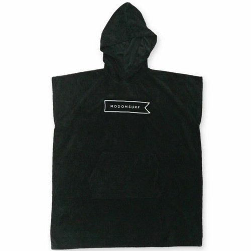 Modom Surf Youth Surfing Hooded Poncho - Black