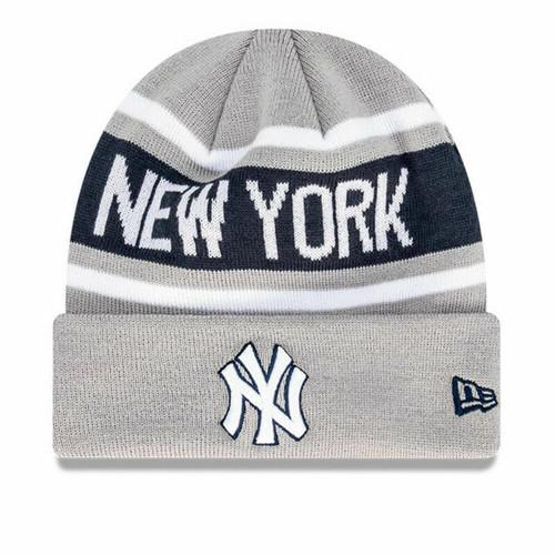 New Era New York Yankees MLB Baseball Supporter Skull Beanie In Grey
