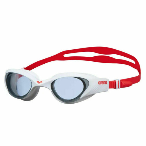 Arena The One Smoke Adult Swimming Goggles In White & Red