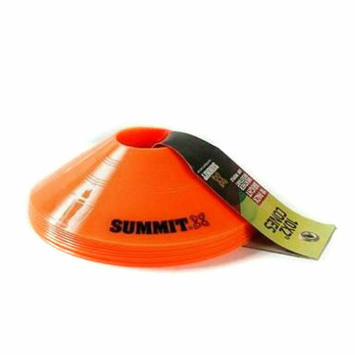 """Summit 2"""" Marker Cones 10 Pack For Football, Soccer All Sports"""
