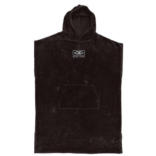 Ocean & Earth Corp Hooded Surf Poncho Towel In Black