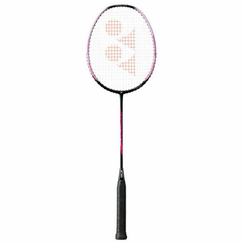 Yonex Nanoflare 001 Feel Badminton Racquet - Strung G5 Racket In Black/Pink