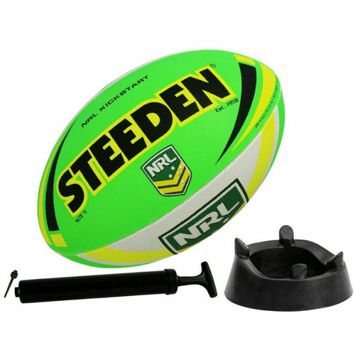 STEEDEN NRL Supporter Starter Pack - Football, Kicking Tee & Ball Pump With Need