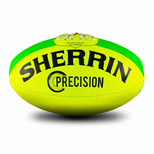 Sherrin Precision Size 5 AFL Football Fluro Yellow/Lime
