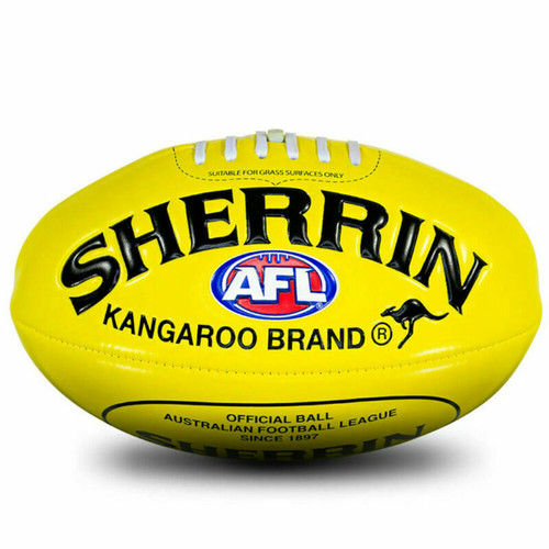 Sherrin Soft Touch Size 3 AFL Football In Yellow