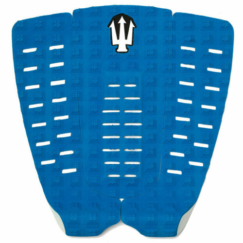 Far King Panther 3 Piece Dynamic Diamond Traction Surfboard Tail Pad Blue