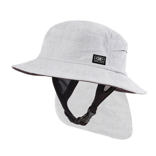 Adult Ocean & Earth Indo Surf Hat For Surfing & watersports - White Marle Colour