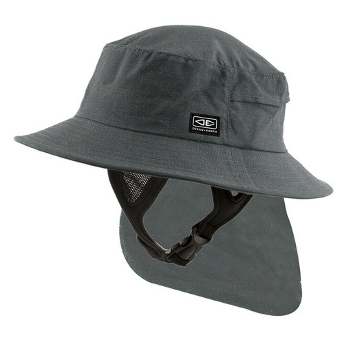 Adult Ocean & Earth Indo Surf Hat For Surfing & watersports - Charcoal Colour