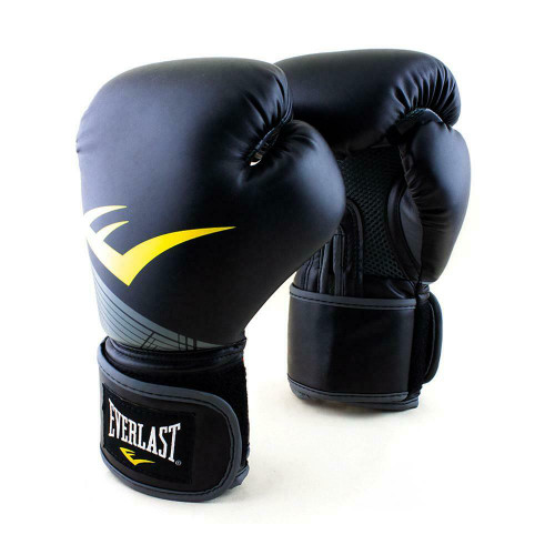 Everlast 8oz. Pro Style Advanced Training Boxing Gloves in Black/Silver