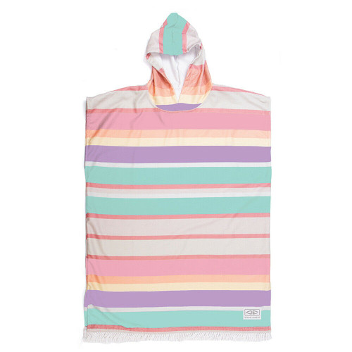 Ocean & Earth Sunkissed Adult Hooded Poncho - Multi Stripes