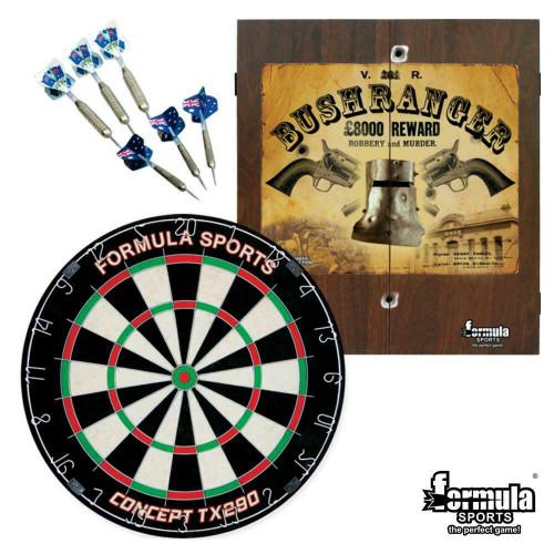 Formula Sports - Bushranger Dartboard, Darts & Cabinet Set